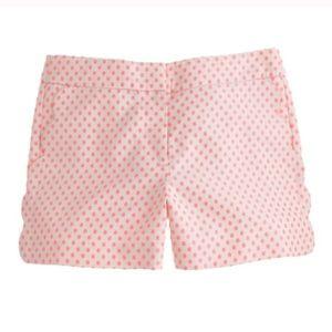 J. Crew Scallop Pocket Polka Dot Shorts Size 6